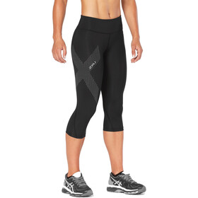 2XU Mid-Rise Compression 3/4 Tights Dame black/dotted reflective logo